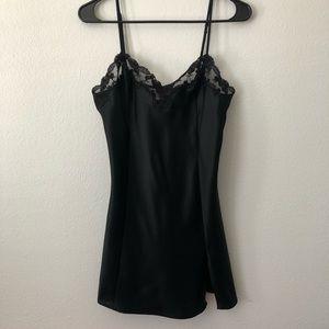 Victoria's Secret black silk lace nightgown